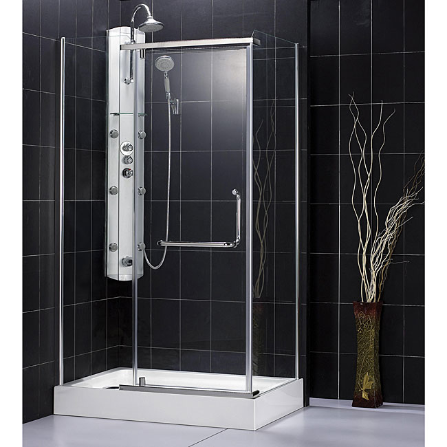 DreamLine Panorama Frameless Shower Enclosure and Tray