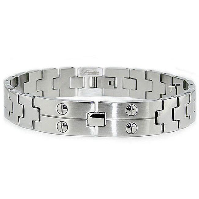 Stainless Steel Men's Screw Link Bracelet