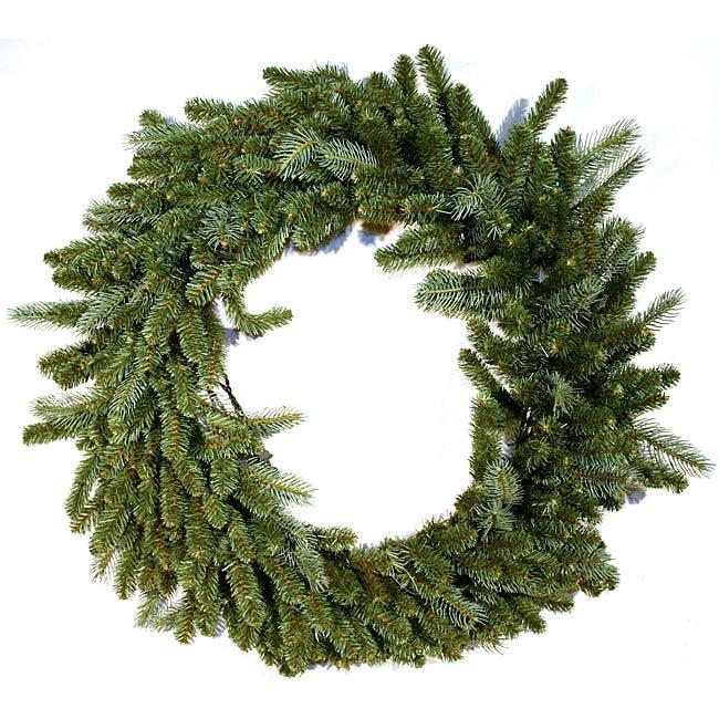Lacrosse Fir 48-inch Prelit Christmas Wreath