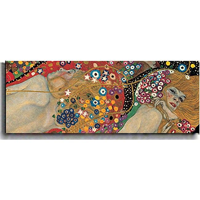 Gustav Klimt 'Sea Serpents (Detail)' Canvas Art