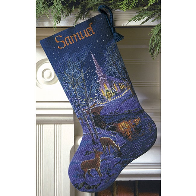 Gold Collection Peaceful Evening Cross Stitch Stocking