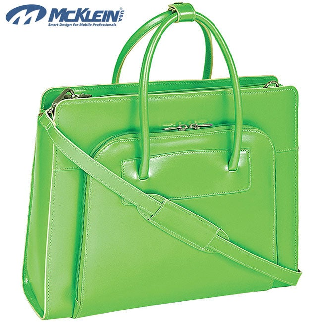 McKlein Green Lake Forest Italian Leather Laptop Case