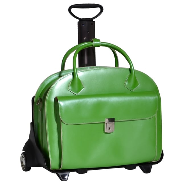 Luggage by O McKlein Green Glenn Ellyn Leather Detachable Wheeled Laptop Case at Sears.com