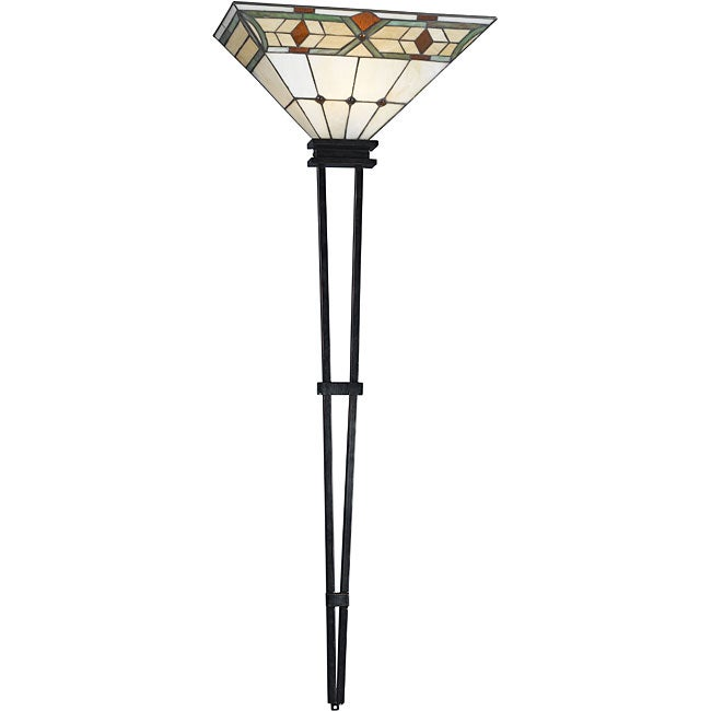 Plug In Tiffany Wall Sconces : Tiffany-style Stained Glass Craftsman 1-light Wallchiere - 11744028 - Overstock.com Shopping ...