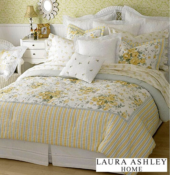 Laura Ashley Eva 9 Piece Bedding Ensemble 11744678