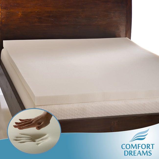 Comfort Dreams Ultra Soft 3-inch Queen/ King-size Memory Foam Mattress Topper