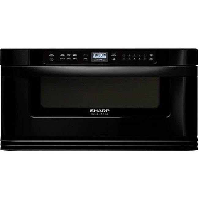 Sharp 30 Inch Insight Pro Black Microwave Drawer