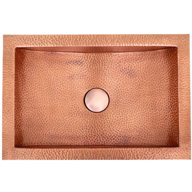 Ticor undermount hammered copper vanity bathroom sink for Hammered copper undermount bathroom sink