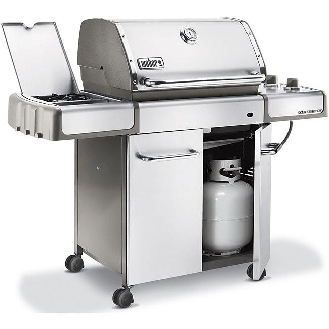 Weber genesis s 320 stainless steel propane gas grill for Barbecue gaz weber genesis s330 inox