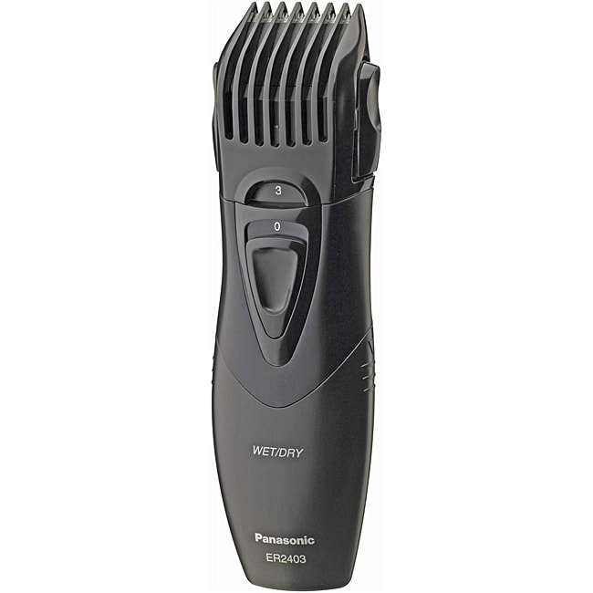 panasonic er2403k portable wet dry hair and beard trimmer overstock shopping top rated. Black Bedroom Furniture Sets. Home Design Ideas