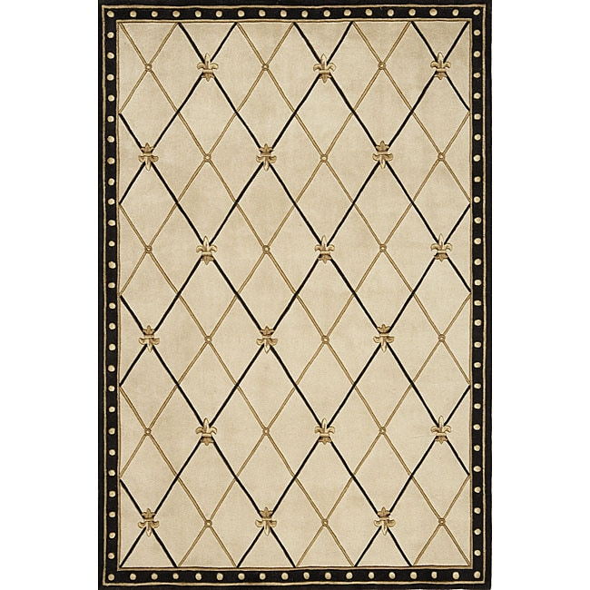 Hand-tufted Black Wool Rug (2'3 x 7'6)