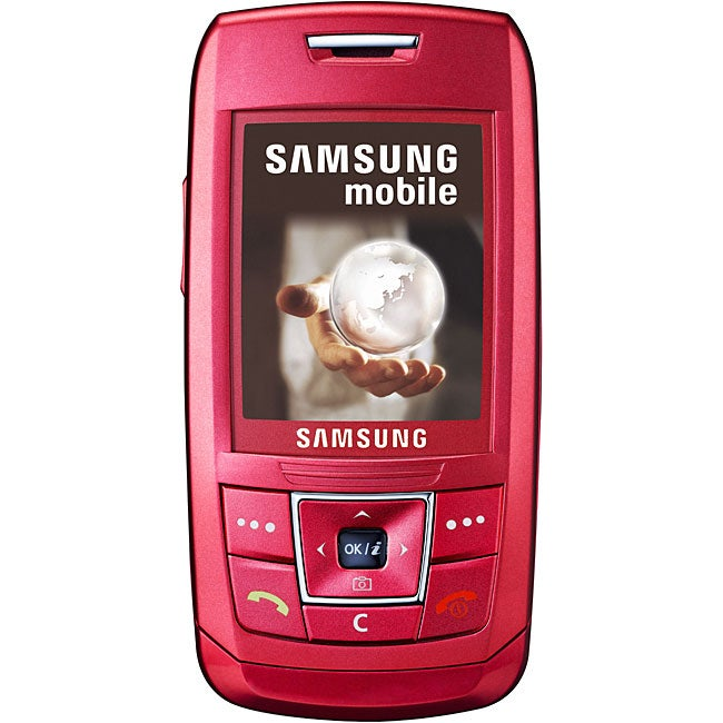 E250 Red Slider Unlocked GSM Cell Phone (Refurbished)
