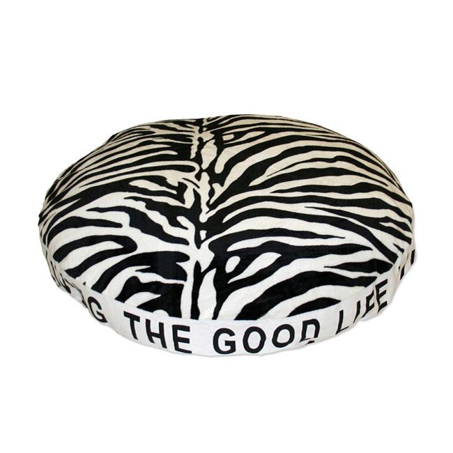 Micro Plush Zebra Print Dog Bed
