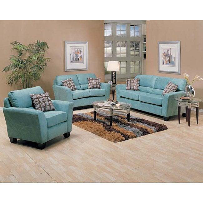 Westwood Tiffany Blue Microfiber Furniture Set 11765283