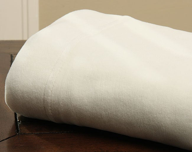 Ivory Velour Sheet Set