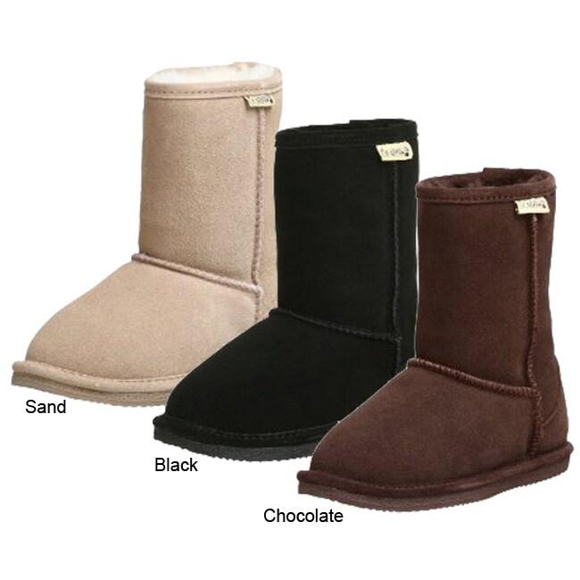 Bearpaw Children's Flat Sole Shearling Boots