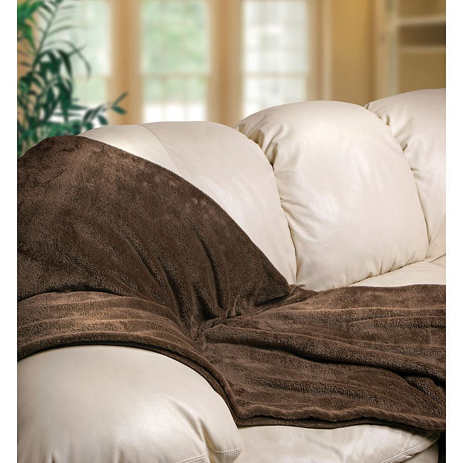 The Sharper Image Ultra Soft Comfort Blanket