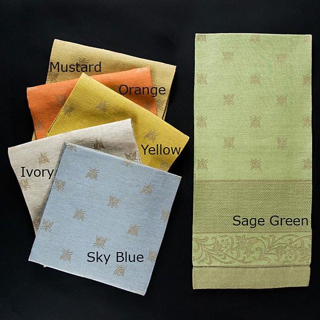 Italian Linen Bees-design Large Bath Towel
