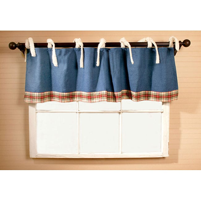 Denim Patchwork Curtain Valance