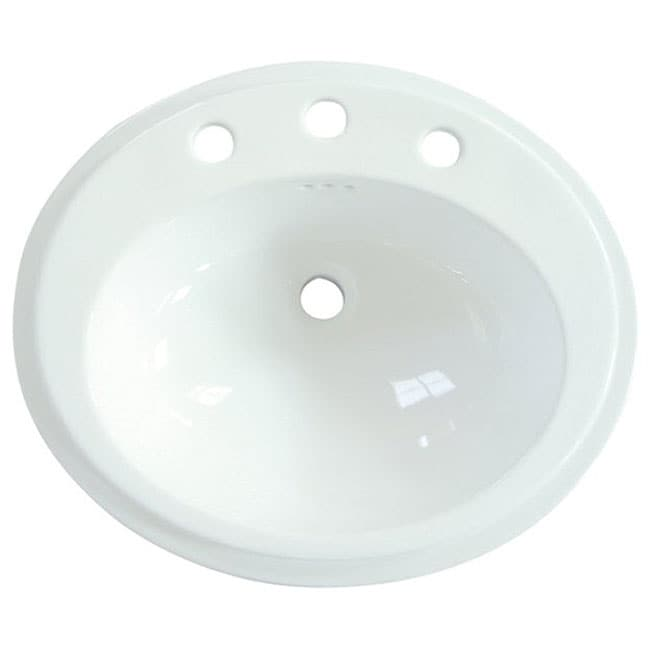 Surface Mount Sink : Eden Round Surface-mount China Sink - Overstock Shopping - Great Deals ...