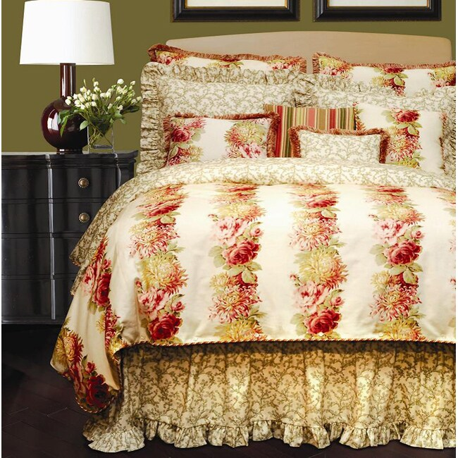 Rose Tree English Romance Luxury 4-piece Comforter Set