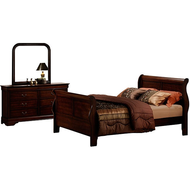 Madison Louis Philippe 3-piece Queen Bedroom Suite Set
