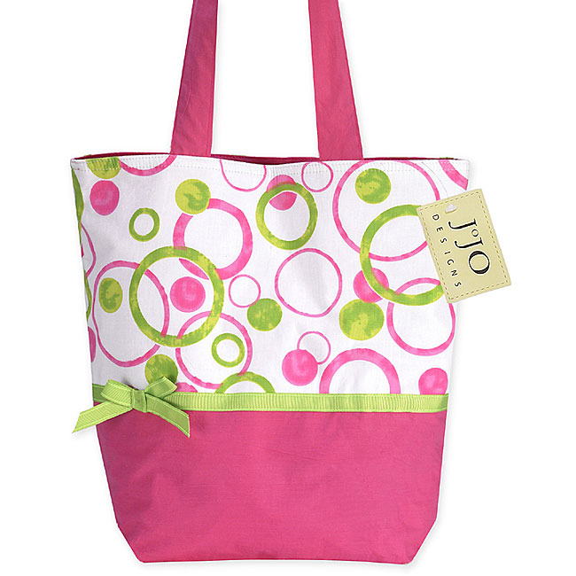 JoJo Designs Hot Pink and Lime Green Tote