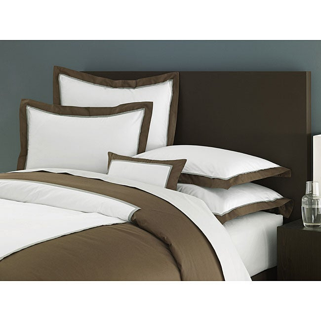 Ampersand Colorblock Chocolate King Duvet Cover
