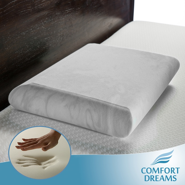 Comfort Dreams EnviroGreen Crowned Low Profile Standard-size Memory Foam Pillow