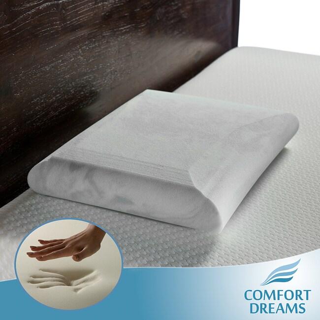 Comfort Dreams Crowned Classic EnviroGreen Standard-size Memory Foam Pillow