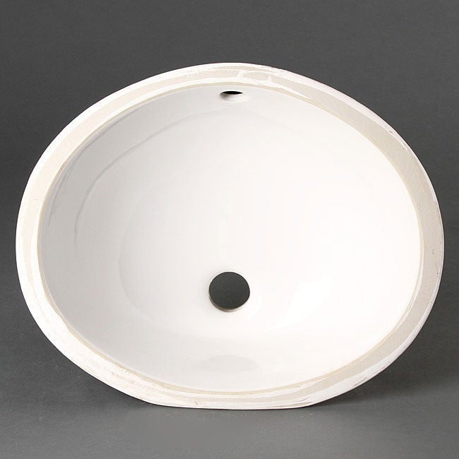 Geyser Vitreous Porcelain Ceramic Undermount Bathroom Sink