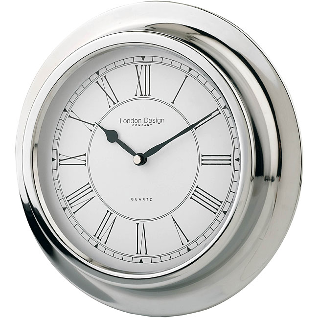 WOLF Polished Chrome Metal Porthole Wall Clock - 11877277 - Overstock.com Shopping - Great Deals ...
