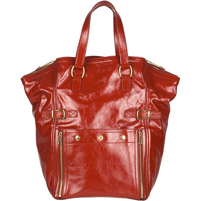 Yves Saint Laurent Downtown Red Large Tote - 11879045 - Overstock ...