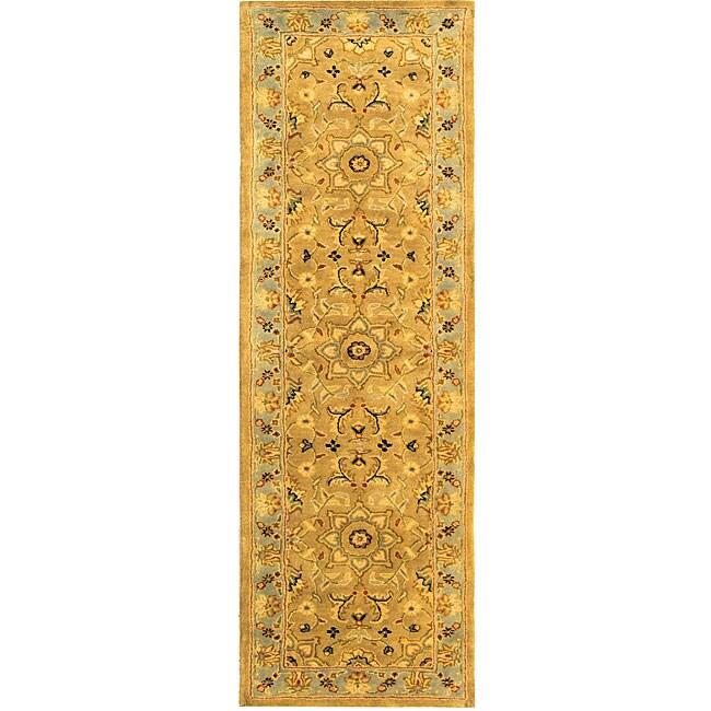 Safavieh Handmade Classic Heirloom Beige Wool Runner (2'3 x 14')