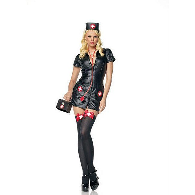 Sexy Leg Avenue 3-piece Pleather Nurse Halloween Costume