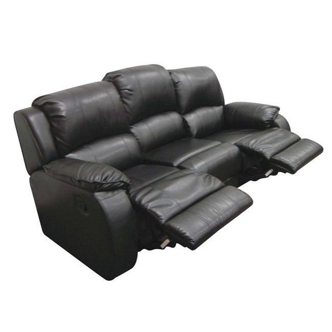 Elation Black 84-inch Reclining Sofa