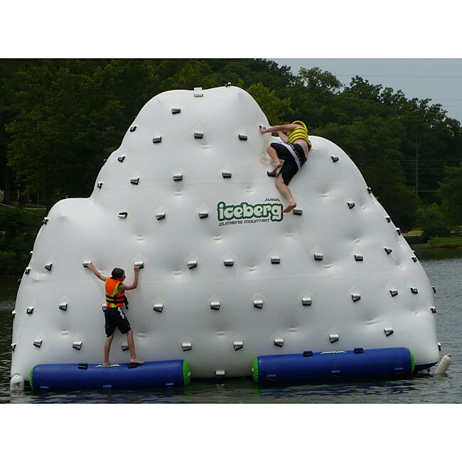 Iceberg Floating Climbing Wall and Water Slide