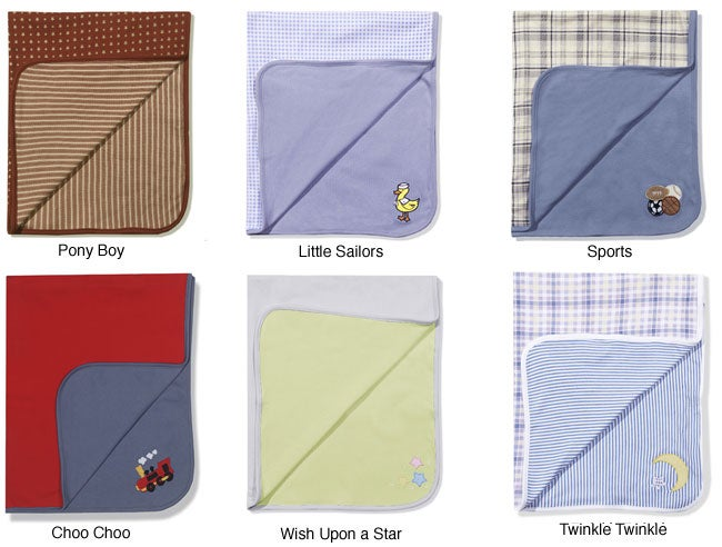 Baby Boy Receiving Blanket (Set of 2)