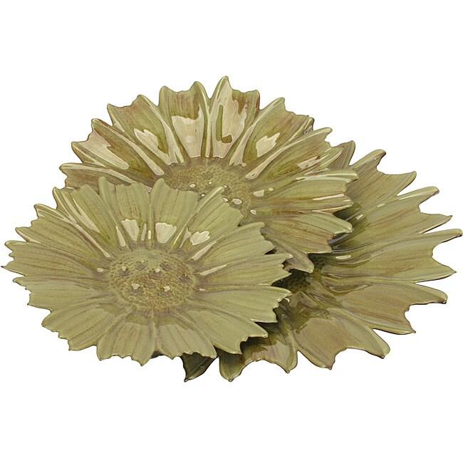 Flower Plates (Set of 3)