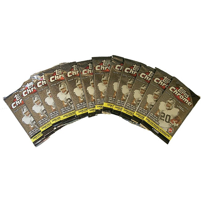 Topps Chrome NFL Trading Cards (Set of 12)