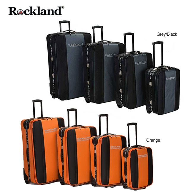 Olympian 4 piece Red / Black Expandable Luggage Set