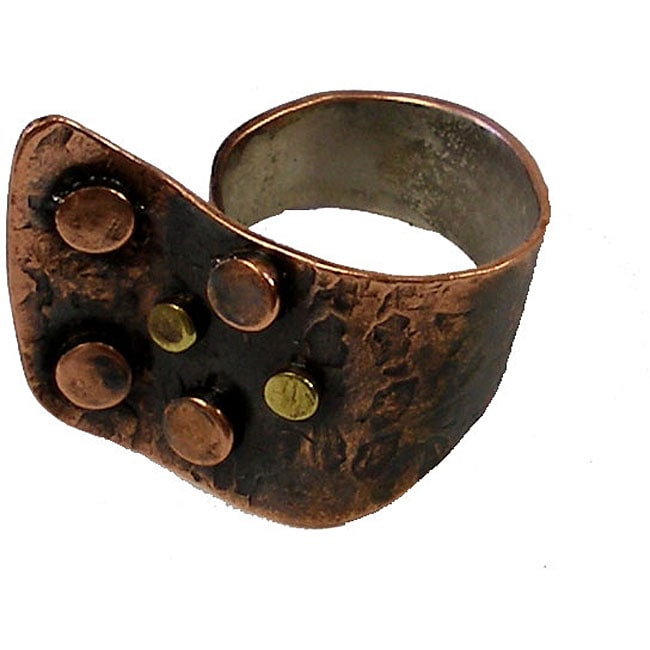 Asymmetrical Copper and Bronze Ring (Chile)
