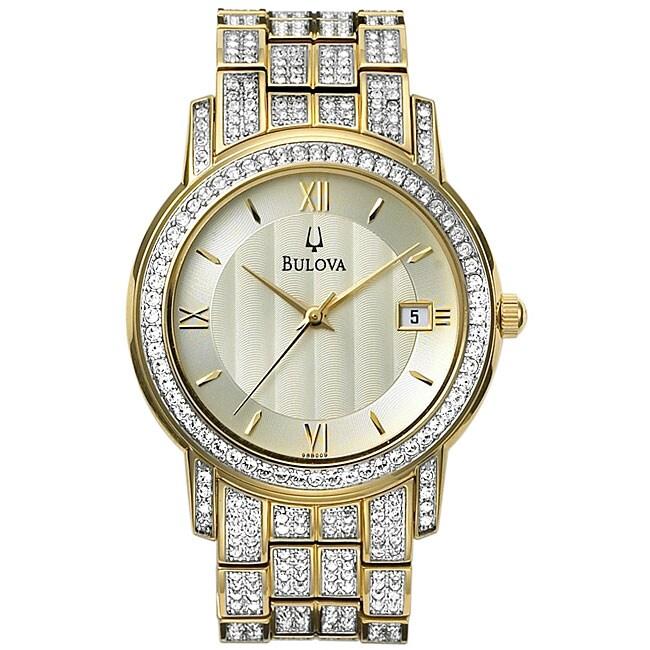 Bulova Men's Crystal Bracelet Watch