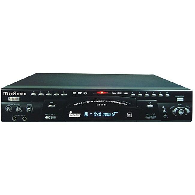 Mixsonic MS-1088BK Professional All-region Karaoke/ DVD Player