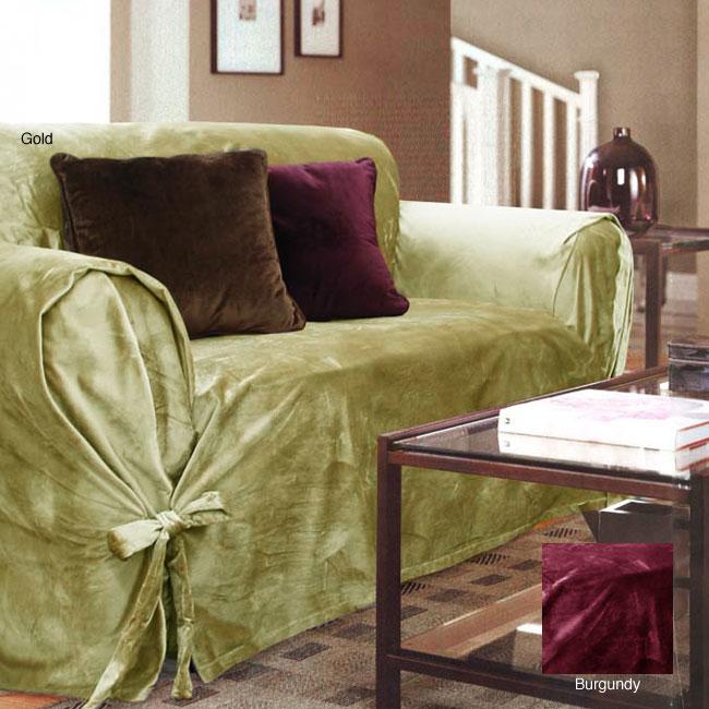 Velvet Sofa Slipcover