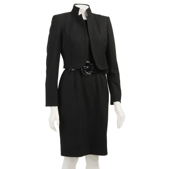 Anne Klein Womens Bolero Jacket Dress