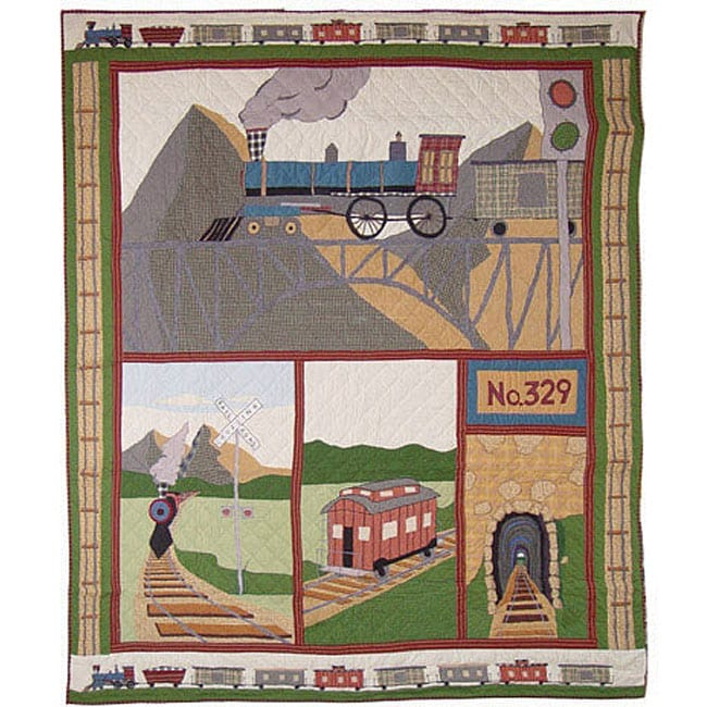 Train Queen size Quilt