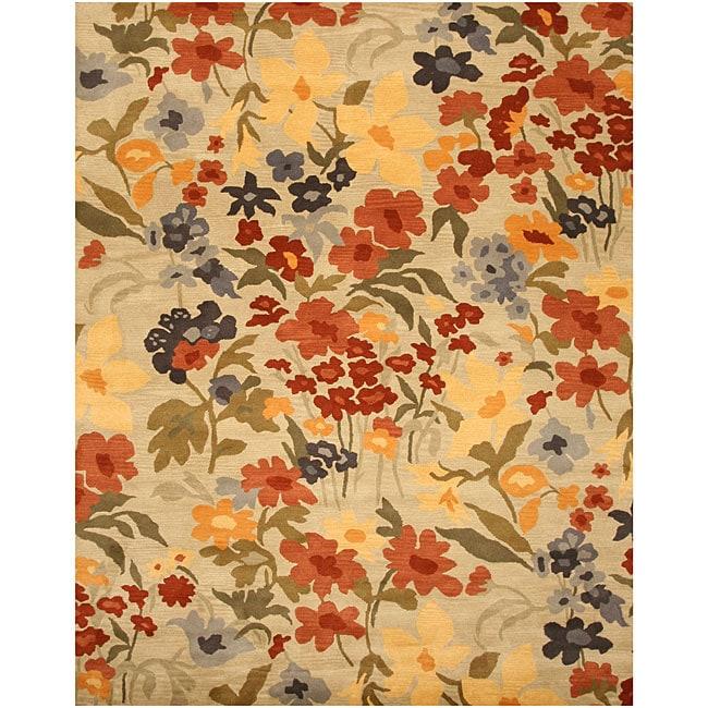 Josie Floral Ivory Rug 8 X 10 11923322 Overstock