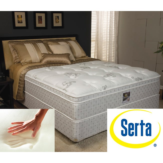 Serta Annabelle Euro top King Mattress and Foundation Set
