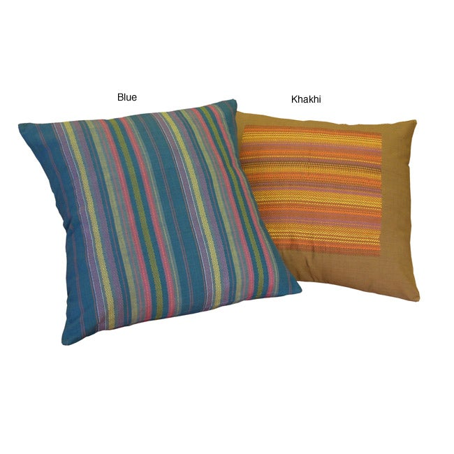 Decorative Pillow Covers Overstock : Set of Two Fair Trade Fine Weave Pillow Covers (India) - Overstock Shopping - The Best Prices ...
